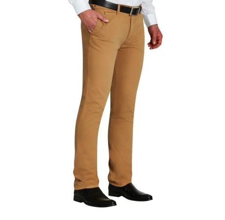 Pantalones Para Hombre Casual Drill Slim Fit Tiendas El